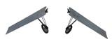 Custom Aluminum Wings With Wire Spoke Wheels For Airplane Fan