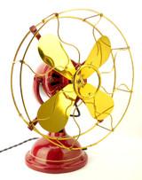 "Circa 1910 Robbins & Myers R&M 1404 12"" Desk Fan Fan Fair 2010"