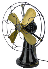 """Professionally Restored 12"""" GE General Electric Coin Operated Hotel Taxi  Desk Fan"""