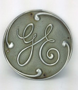 "9"" Original Cast GE General Electric Logo Chrome"