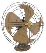 "Circa 1947 16"" General Electric GE Oscillating Desk Fan"