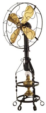 """Circa 1916 16"""" Lake Breeze Model B Floor Model Hot Air Fan"""