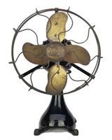 Circa 1917 ECK Hurricane Oscillating Fan Ming Patented Blade 110v AC