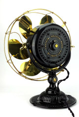 """Restored 1910 Emerson Type 11666 12"""" Desk Fan"""