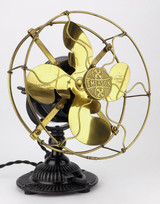 "Emerson 8"" Brass Desk Fan Type #1500"