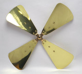 """Original 16"""" Brass Blade for Dayton Polished and Lacquered"""