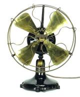 """12"""" Dayton Tab Foot Type 50 Brass Desk Fan"""