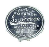 Original Emerson Seabreeze Model 3250 B Cage/Guard Badge