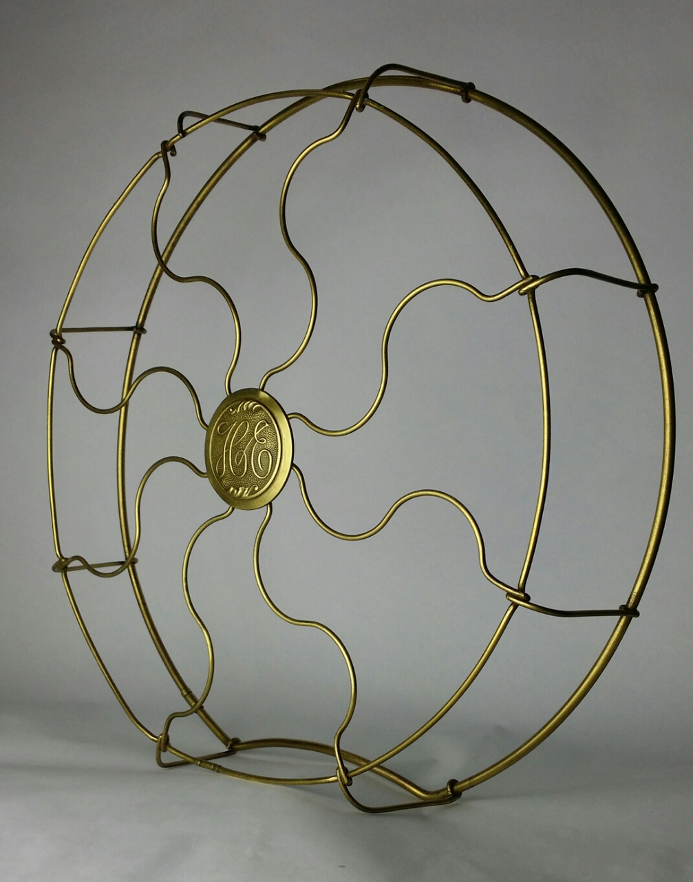 """Original 16"""" Hunter Electric Brass Drop Ring Wrapped Cage"""