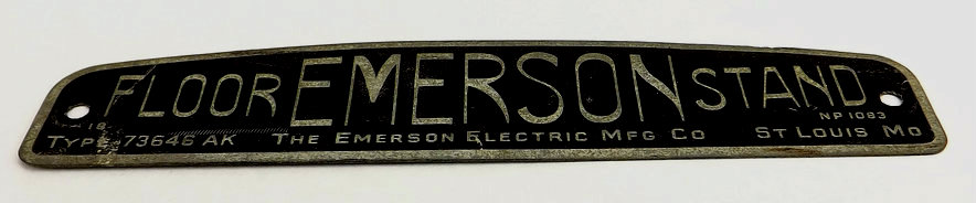 Original Base Tag For Emerson Floor Stand