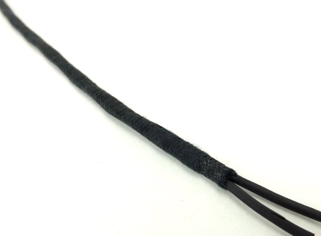 2 Conductor Black Twisted Head Cord with Black Cloth Sheath Wire