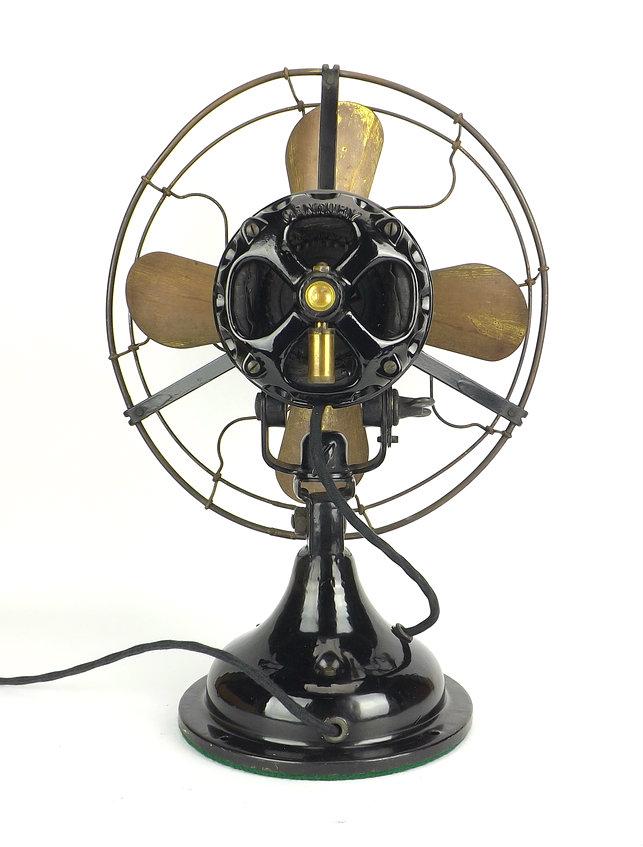 """12"""" Century Electric Co. """"Skeletal"""" Stationary Desk Fan"""