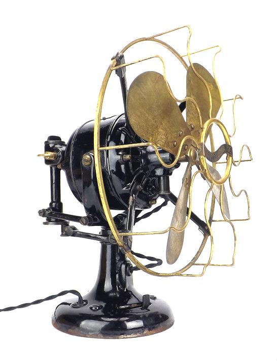 "1912 12"" Westinghouse Double Lever Oscillating Desk Fan"
