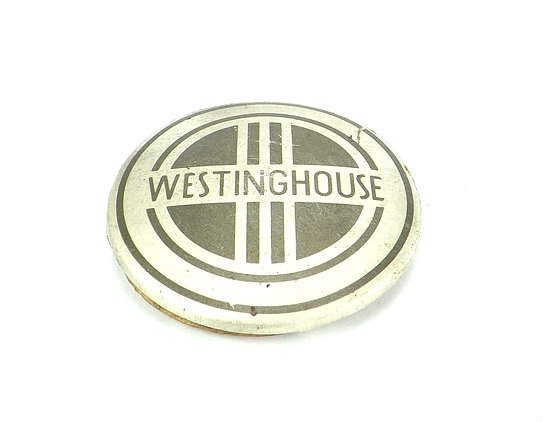 """Original 1937 Westinghouse Power Aire """"Darth Vader"""" Cage/Guard Badge"""