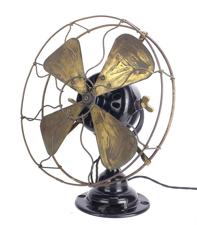 """Original 1912 Emerson Trojan 53646 12"""" Desk Fan"""