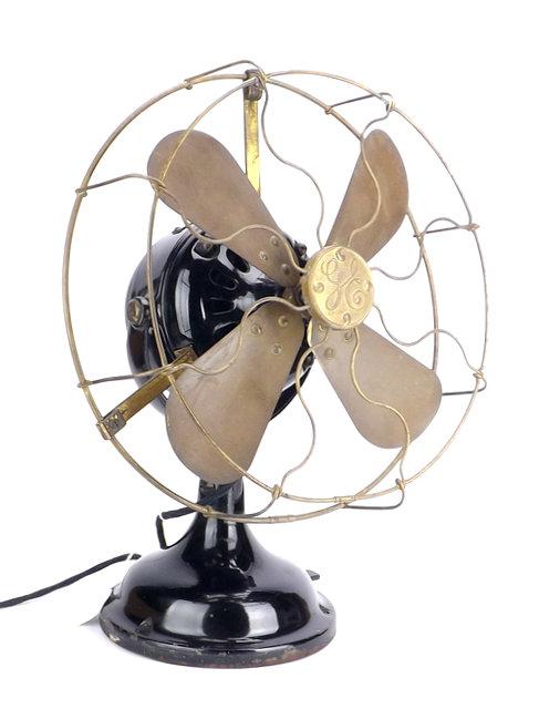 """Early Original GE BMY 12"""" Desk Fan"""
