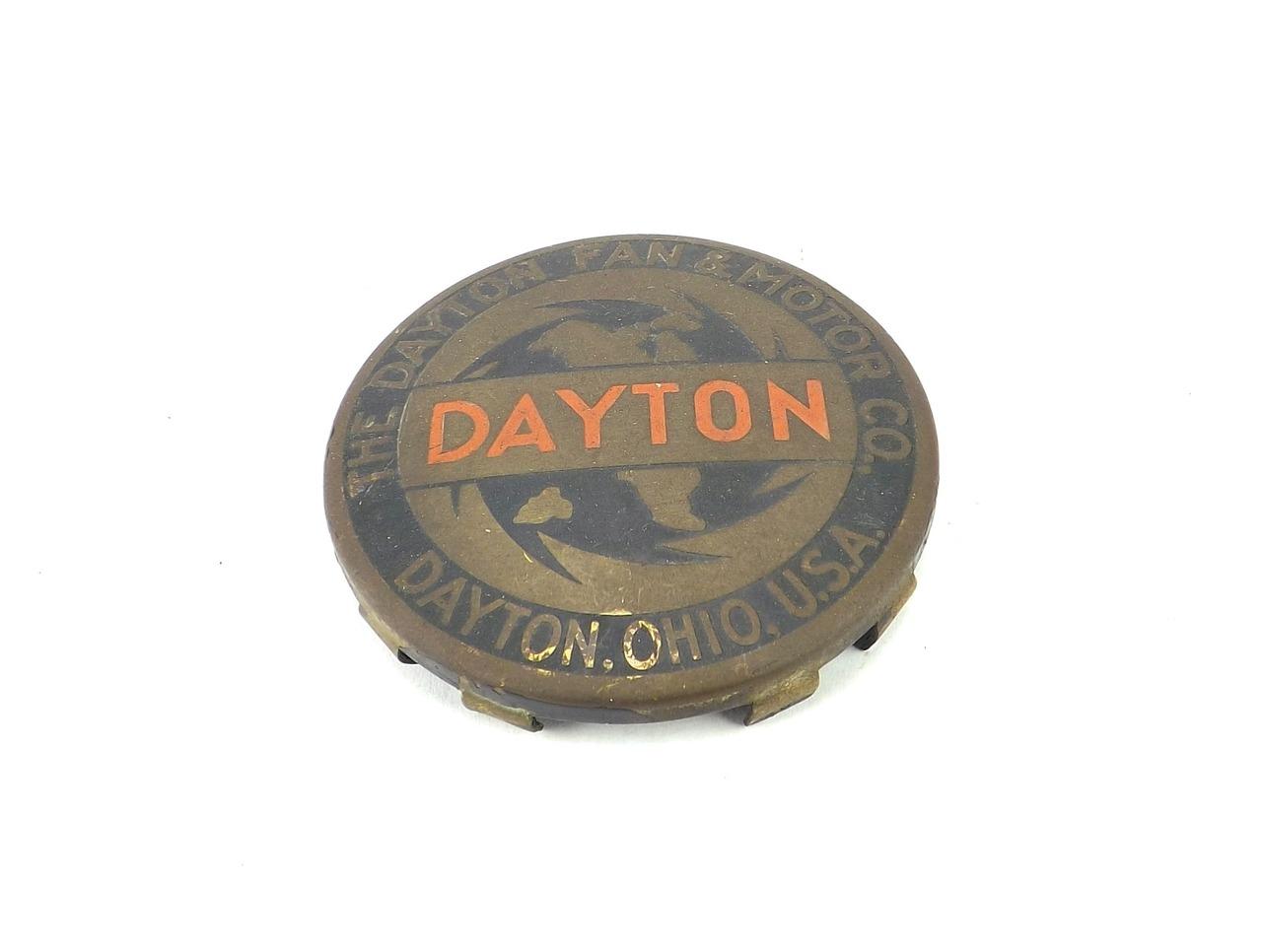 """Original Dayton """"Saw Blade"""" Cage/Guard Badge"""