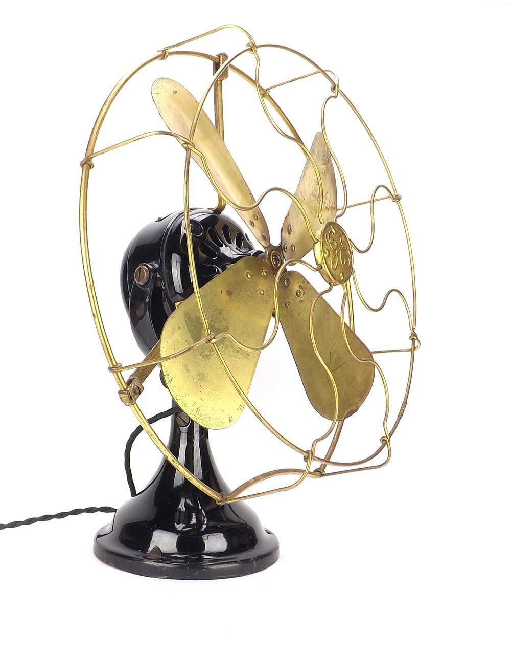 """16"""" 1911 GE """"Big Motor Yoke"""" Trunnion Mount Desk Fan"""
