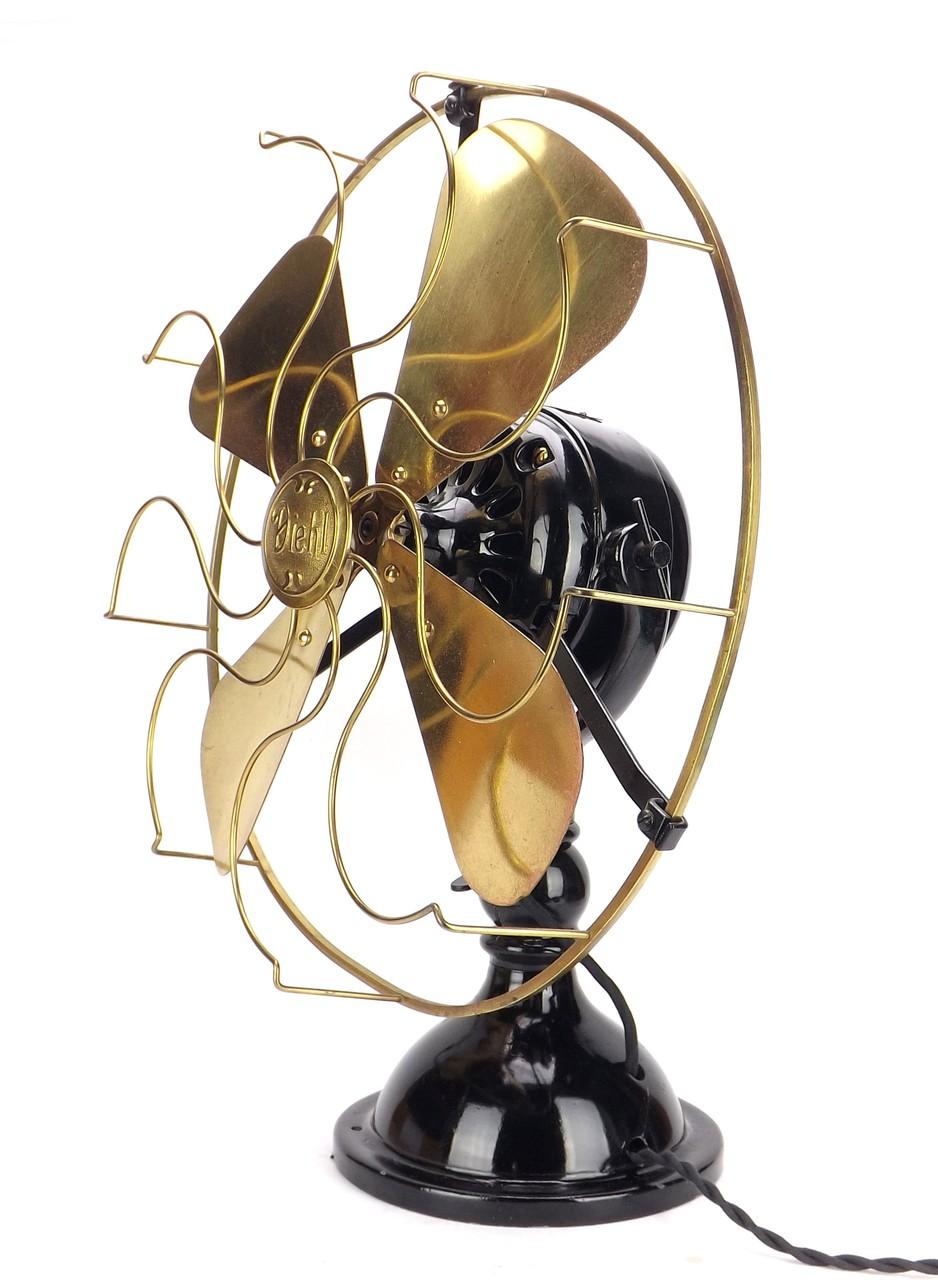 """16"""" Diehl Circa 1915 Large Motor Trunnion Mount Desk Fan"""