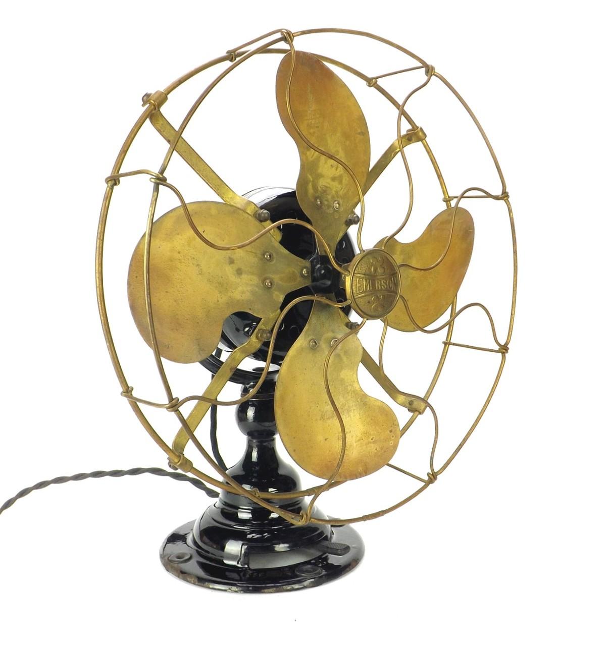 "Circa 1911 12"" Emerson Type 14646 Stationary Desk Fan"