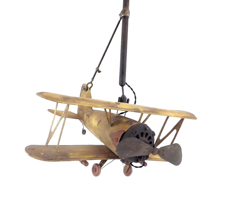 Early 1900's Biplane Custom Airplane Ceiling Fan