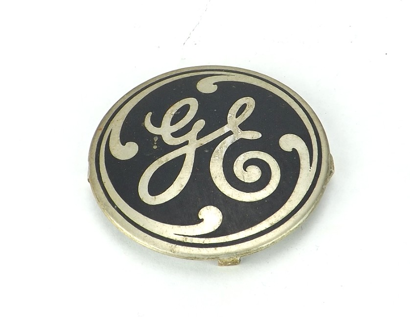 Original GE Aluminum Cage/Guard Badge For 78x233
