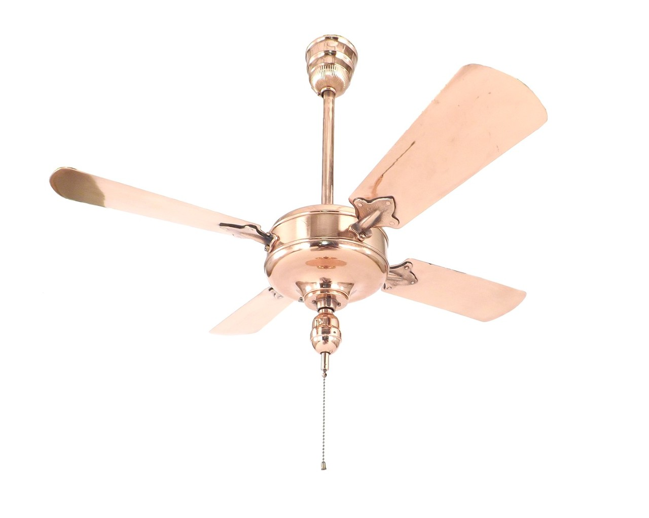 Circa 1920's Westinghouse Baby Sidewinder Ceiling Fan Restored Copper Finish