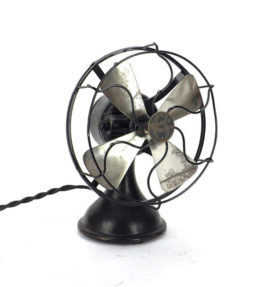 "Circa 1916 Western Electric 6"" Universal Motor Desk Fan"