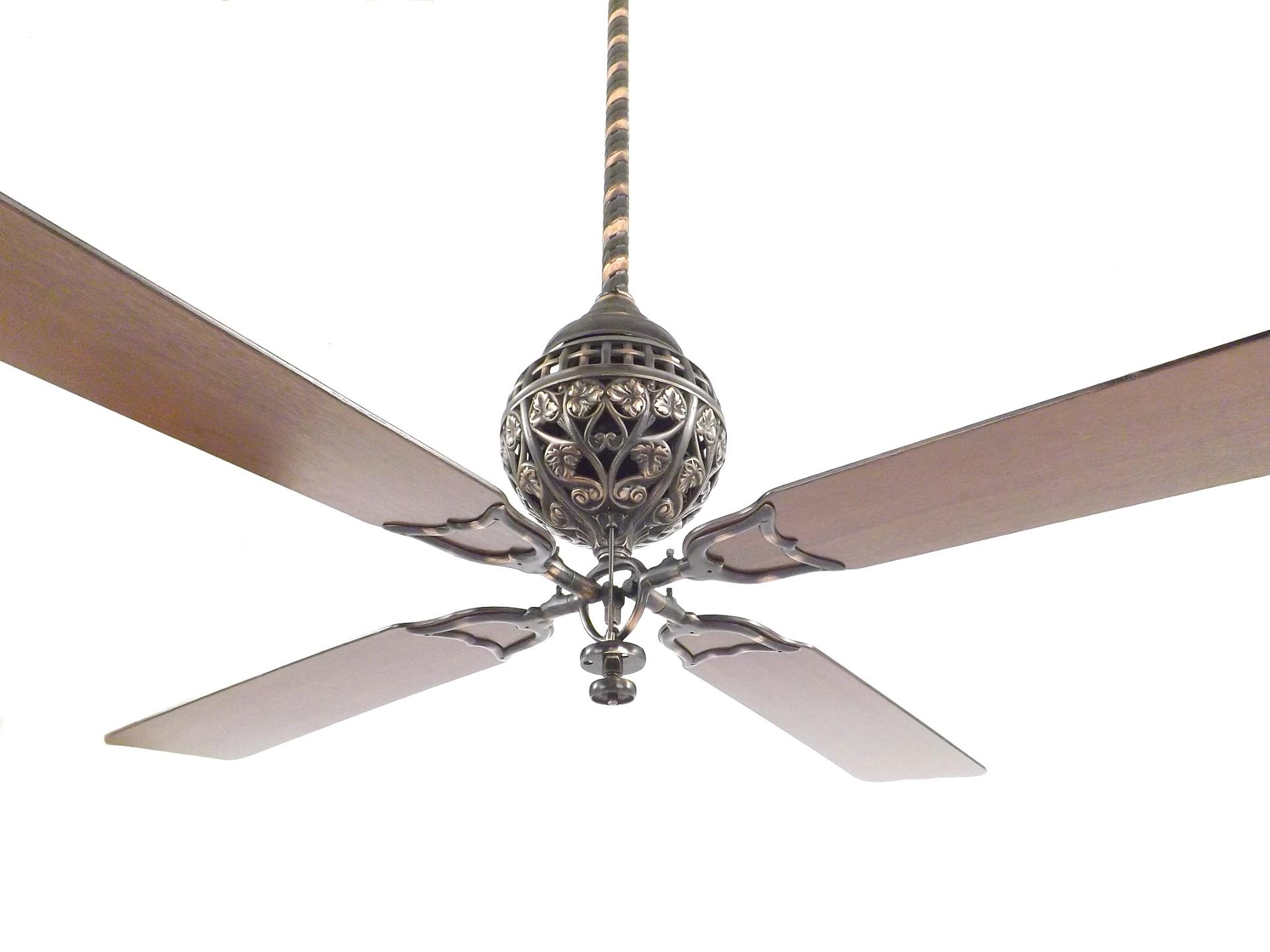 Restored 1898 Hunter Tuerk 4 Blade Ceiling Fan