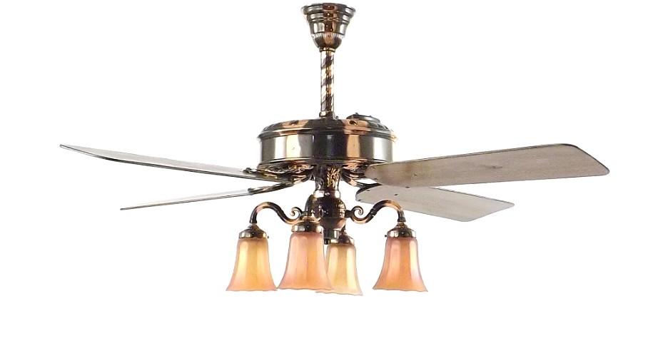 Beautifully Restored Emerson Fernleaf Ceiling Fan Copper Oxide Rewound