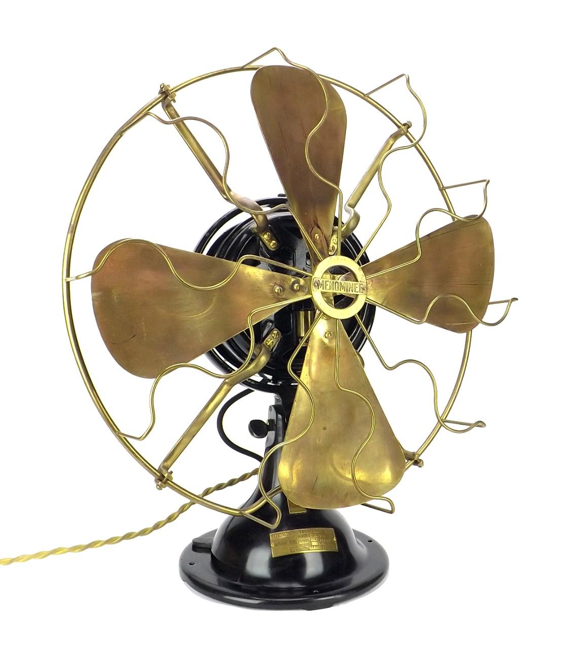 "Circa 1915 16"" Menominee Snowflake Oscillating Table Fan"