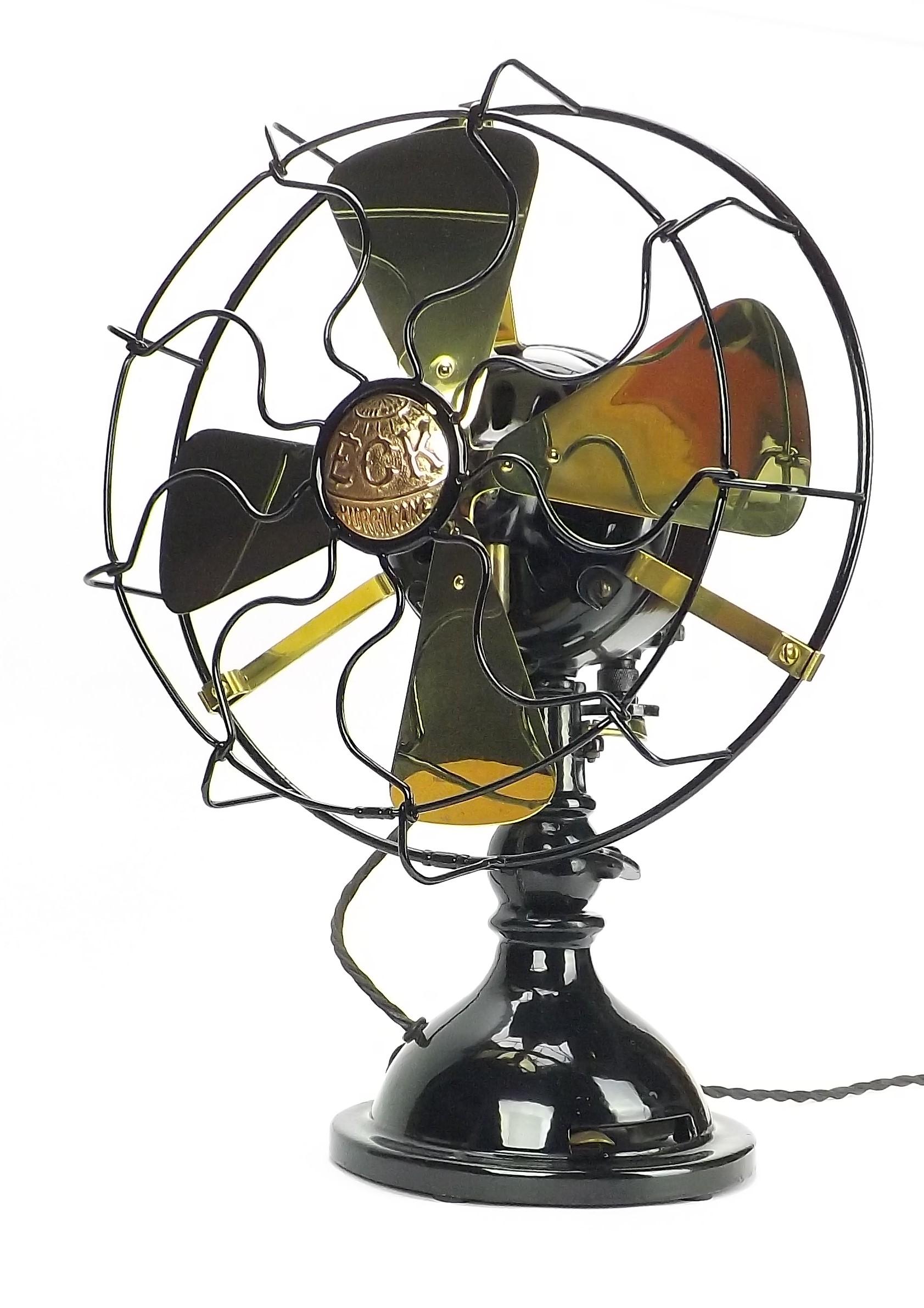 "Circa 1915 12"" ECK Toilet Bowl Oscillating Desk Fan"
