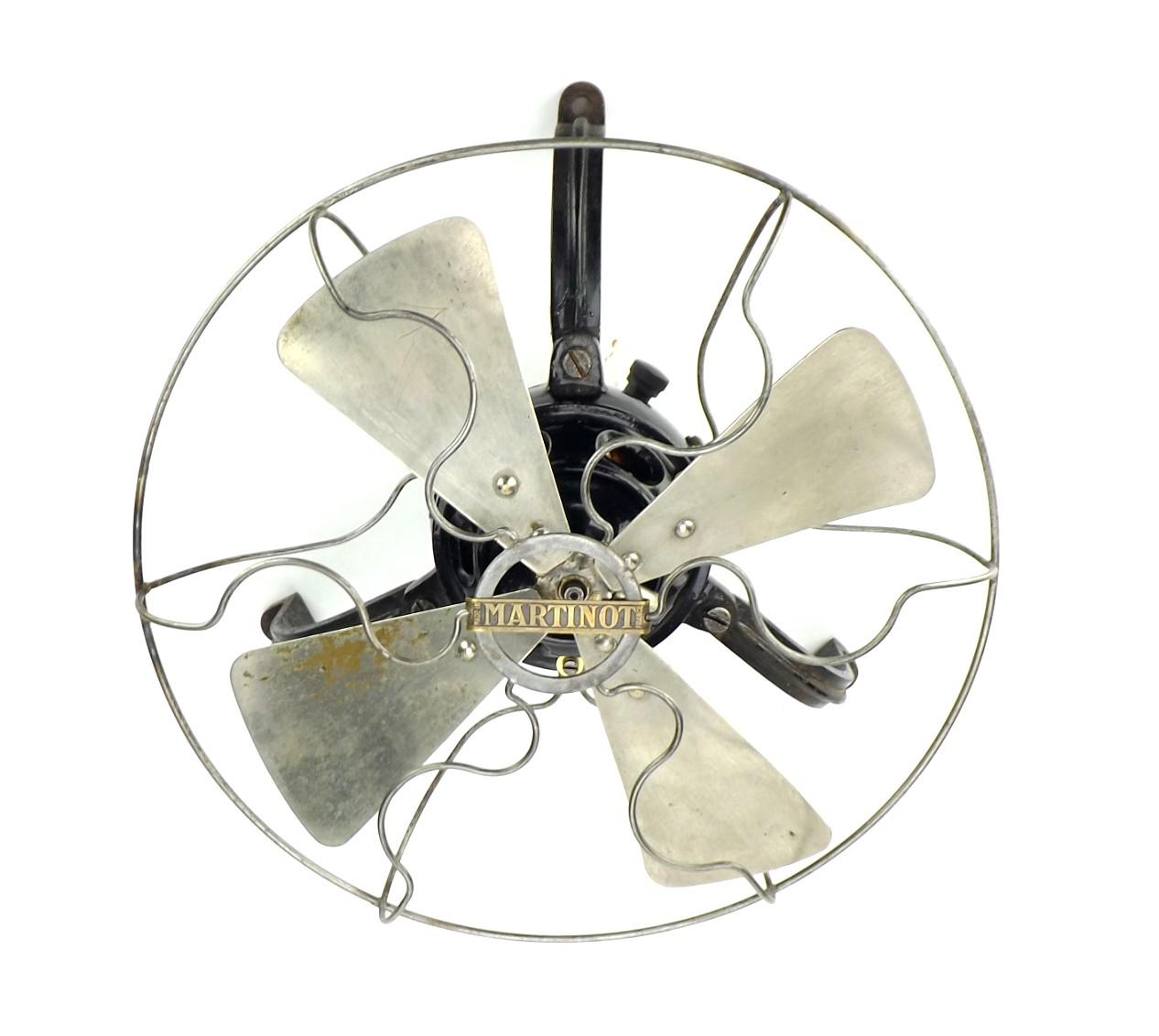 "Circa 1910 10"" Martinot Ceiling Fan Badged Thomson Houston Paris"
