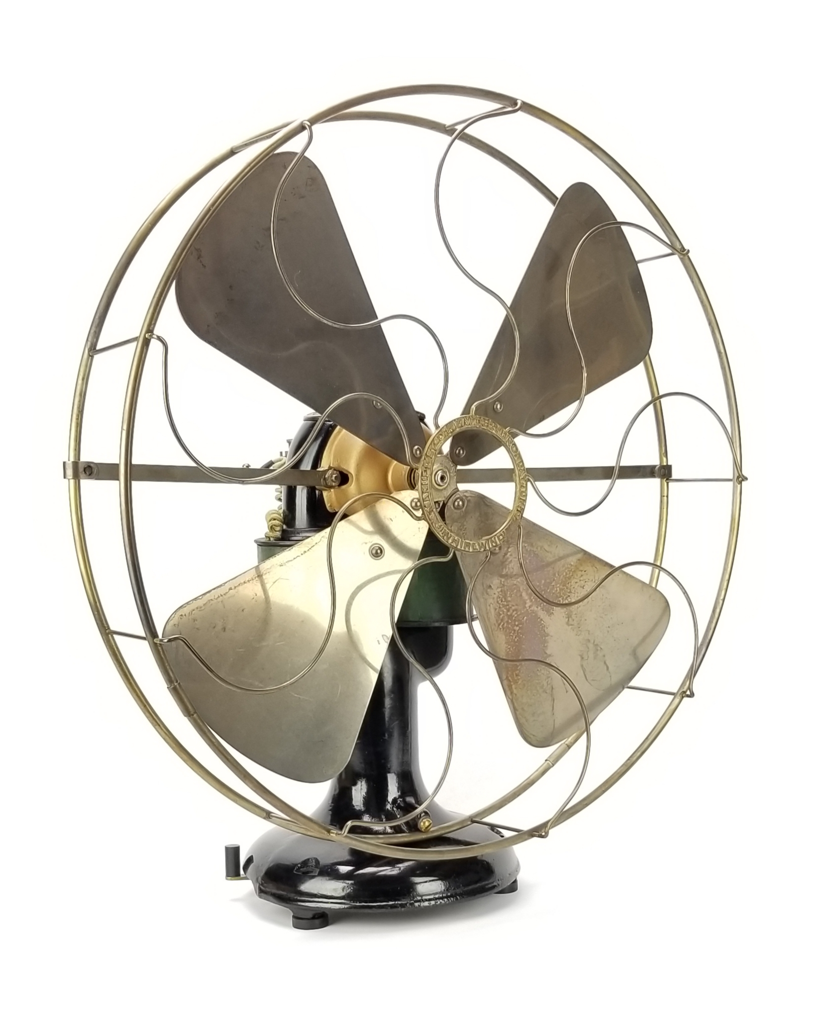 1895 16' D.L. Bates Bipolar Desk Fan