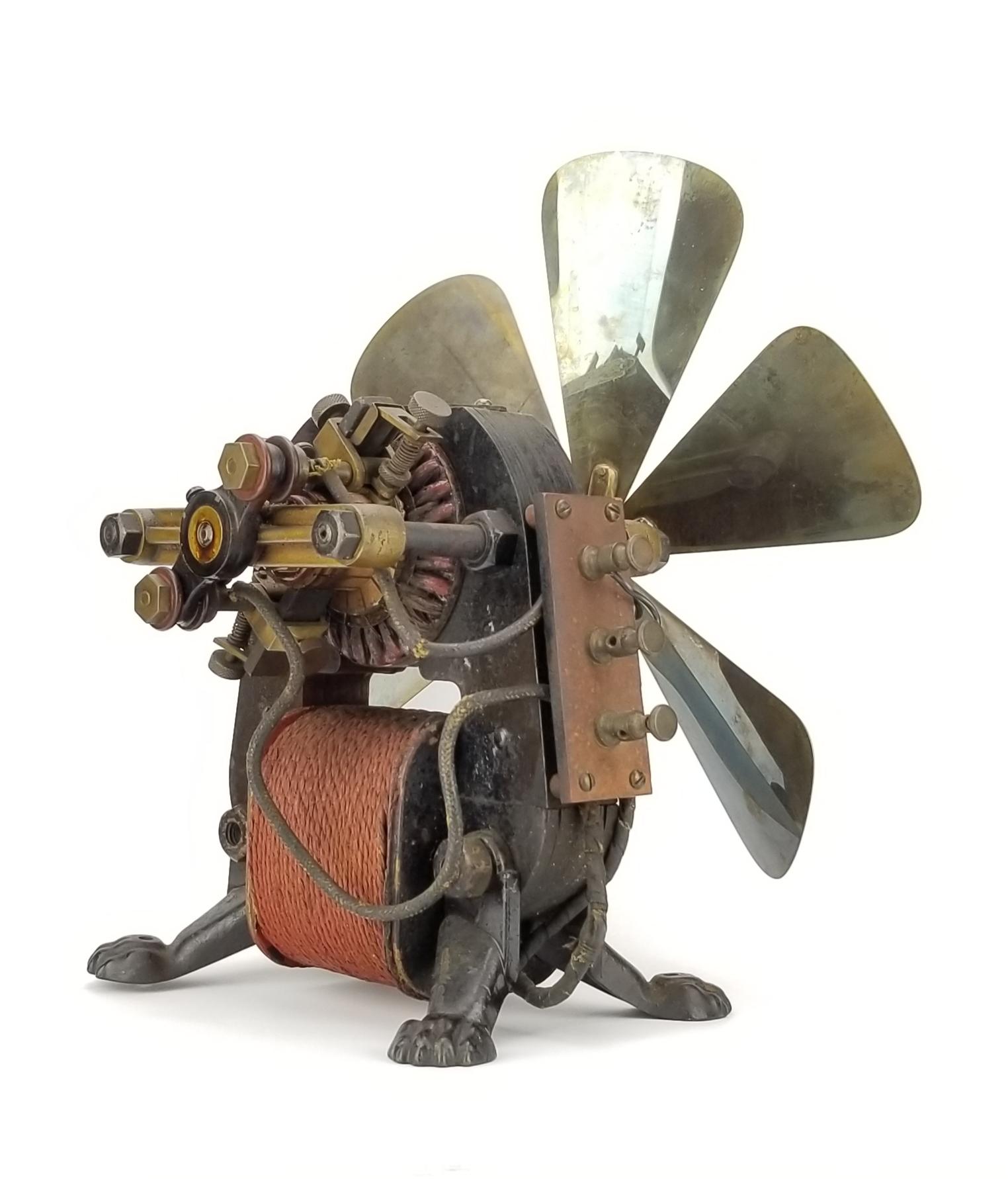 1889 Riker Electric Bipolar Fan With Claw Feet