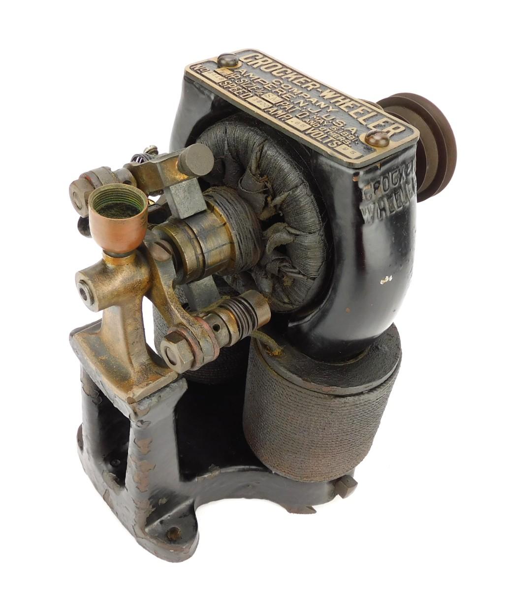 1890 Crocker Wheeler 1/12th HP Fan Motor