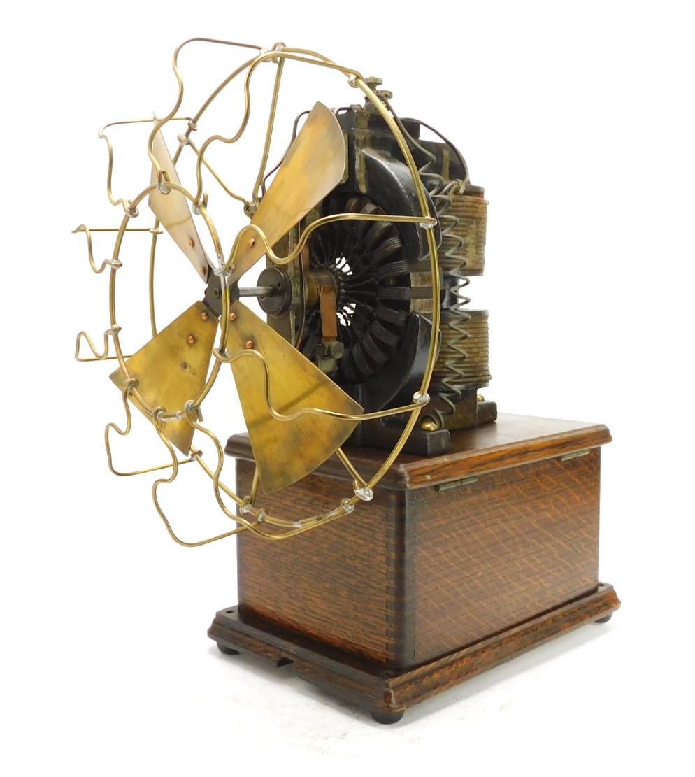 1897 Edison OO Motor Mounted On Telephone Box