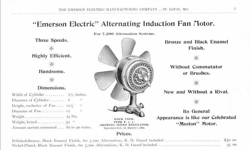 1895 Meston FI1 Back Switch Tripod Desk Fan