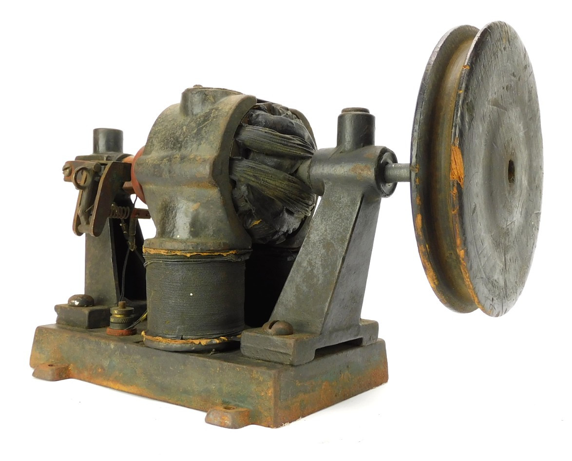 1900 Carlisle & Finch Bipolar Utility Motor with Large Wooden Pulley