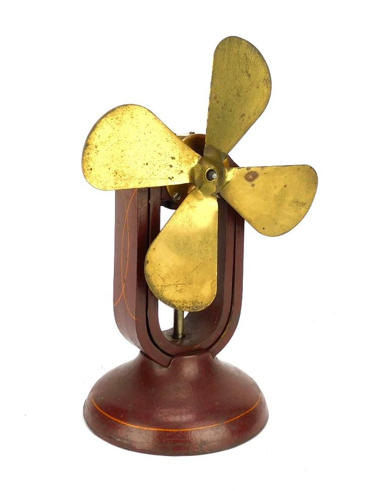 1900 Ohio Electric Co. Battery Desk Fan Original Finish