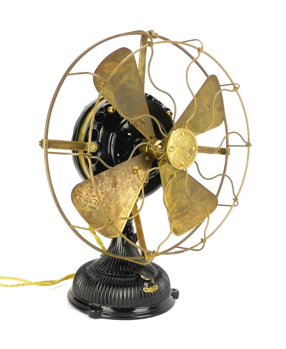 """Restored 1903 12"""" GE Pancake Desk Fan"""