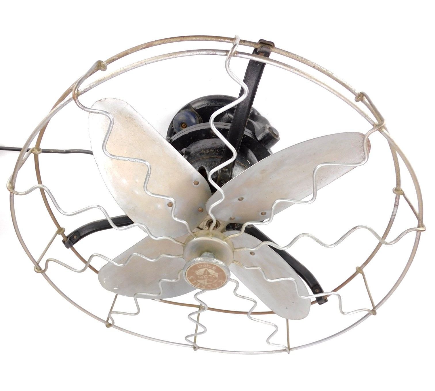 "Circa 1910 16"" Kassels Gimballed Wall Or Ceiling Mounted Fan"