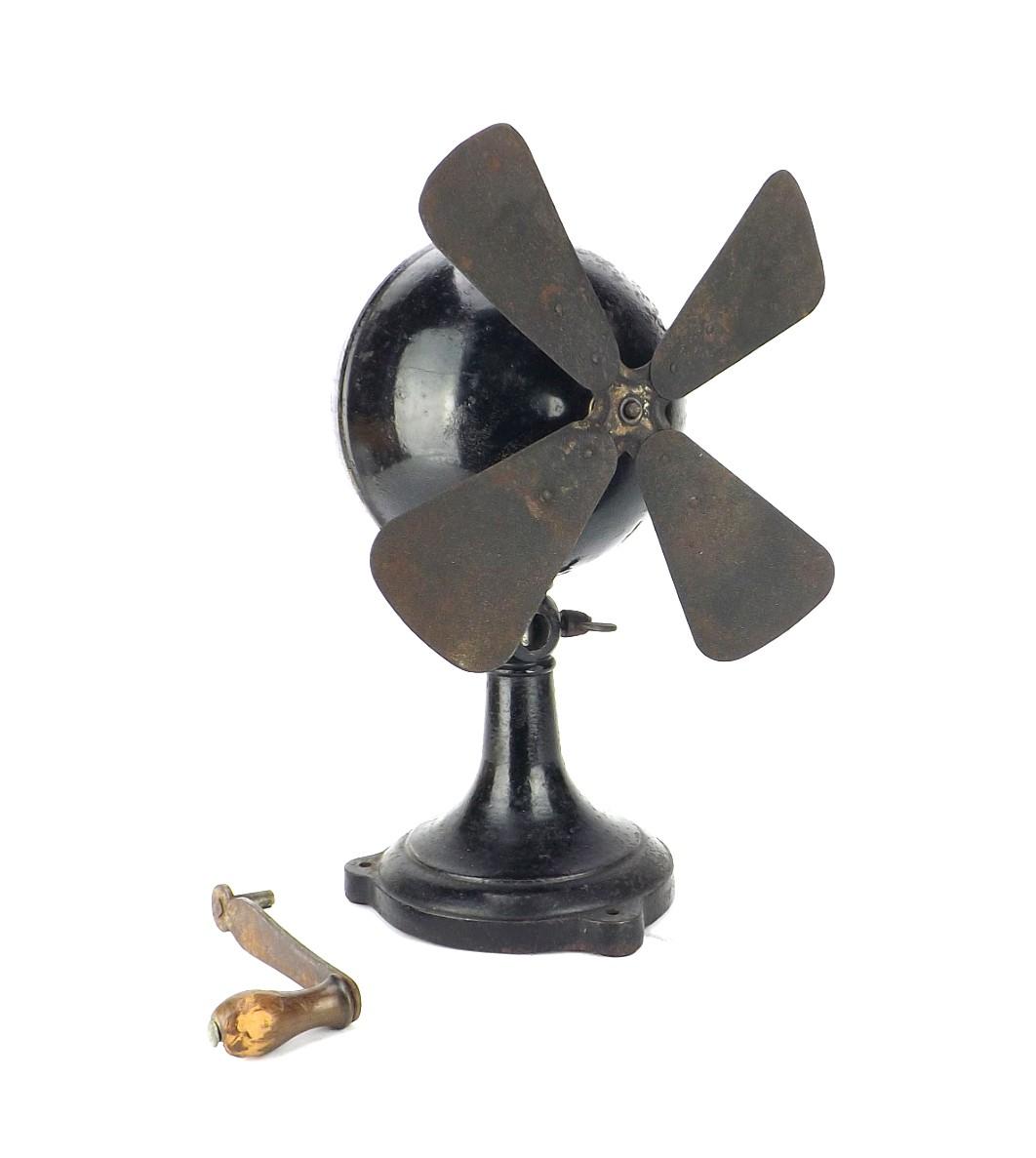 1800's German Clockworks Ball Motor Desk Fan