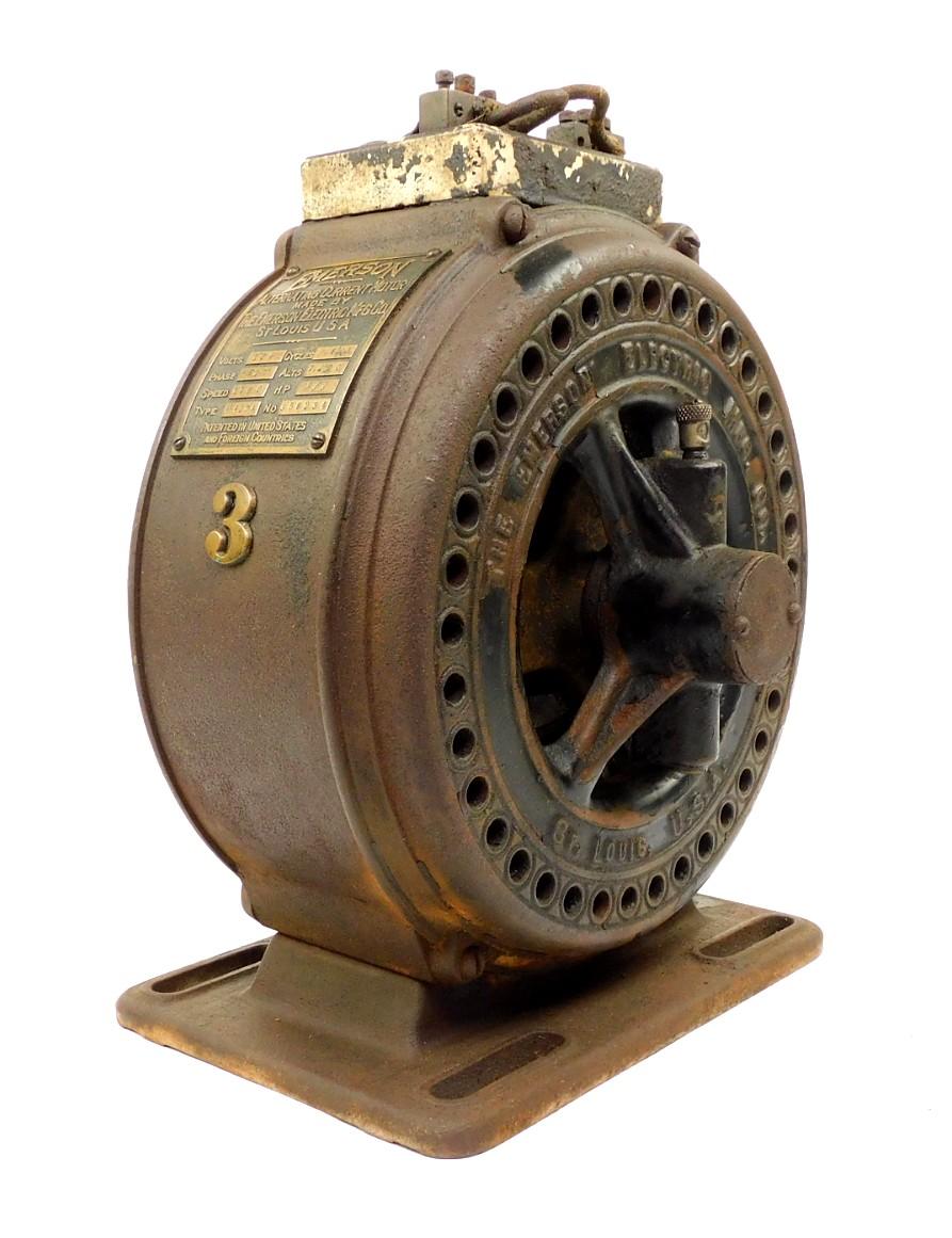 Circa 1910 Emerson 1/3 HP Pancake Motor