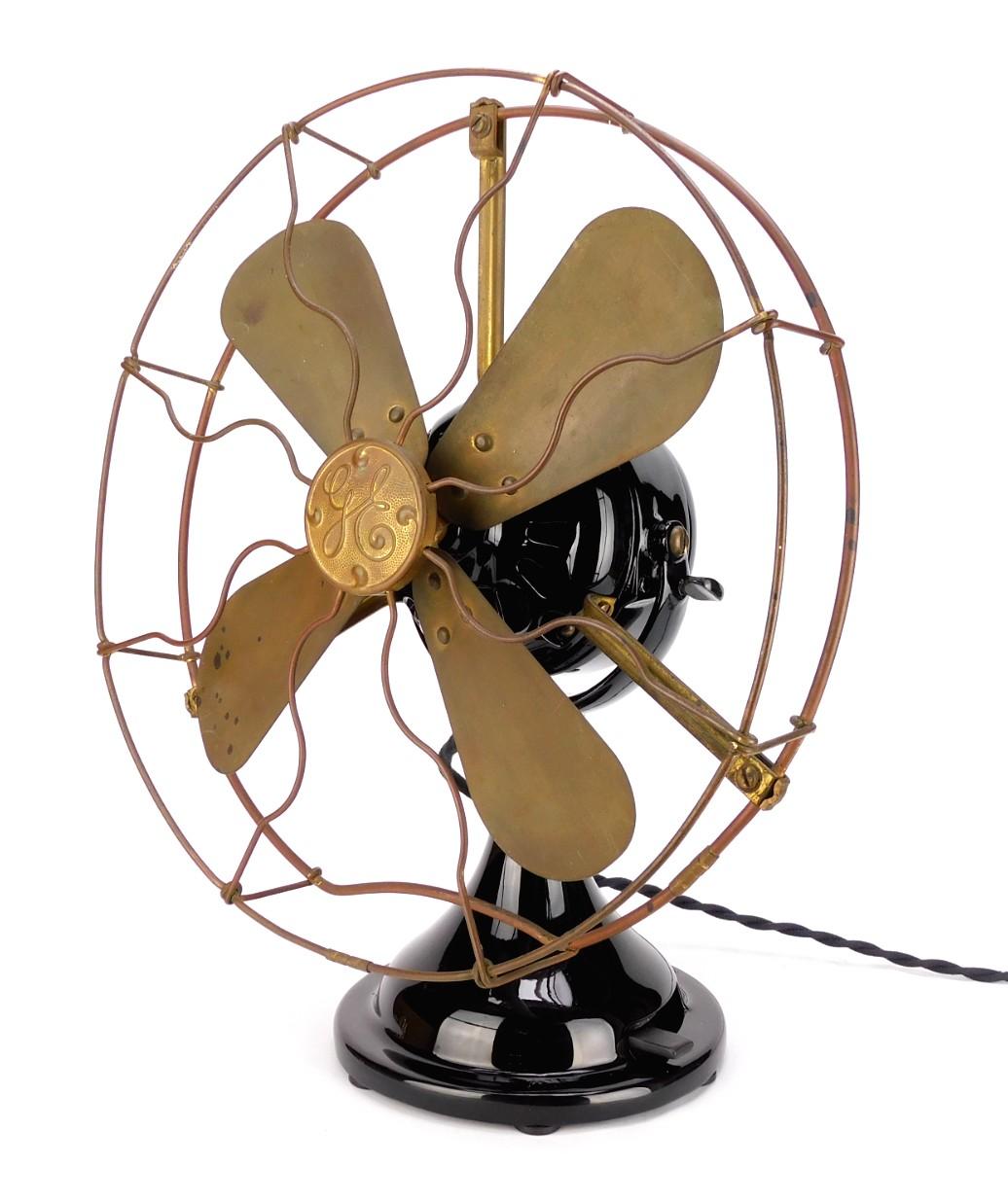 "Circa 1914 12"" GE Small Motor Yoke (SMY) Desk Fan Restored/ Original"