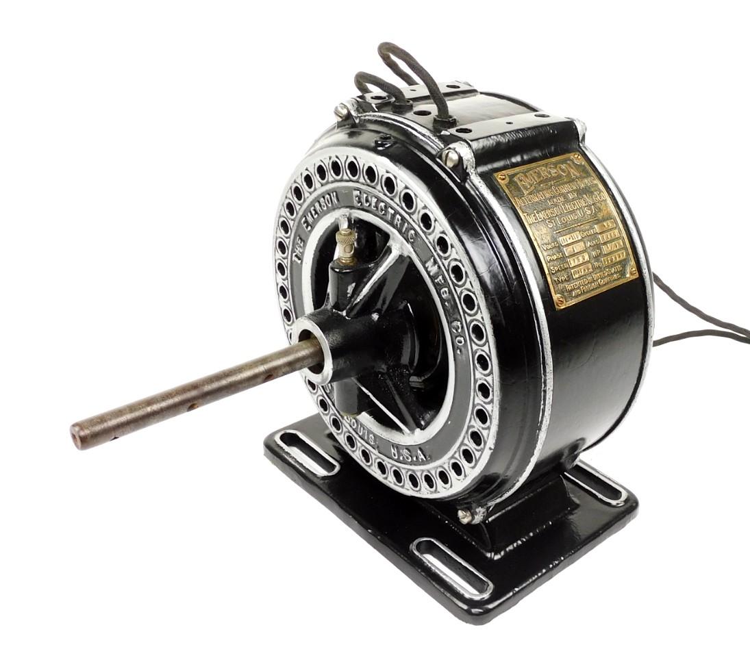 Circa 1910 1/3 HP Emerson Pancake Motor Refinished
