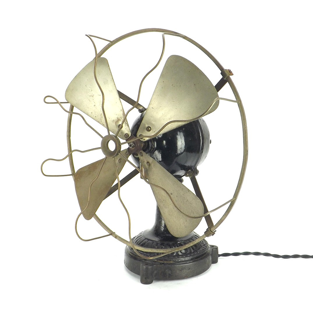"Early 1900's Ventilator D.E.W. German 12"" Desk Fan"