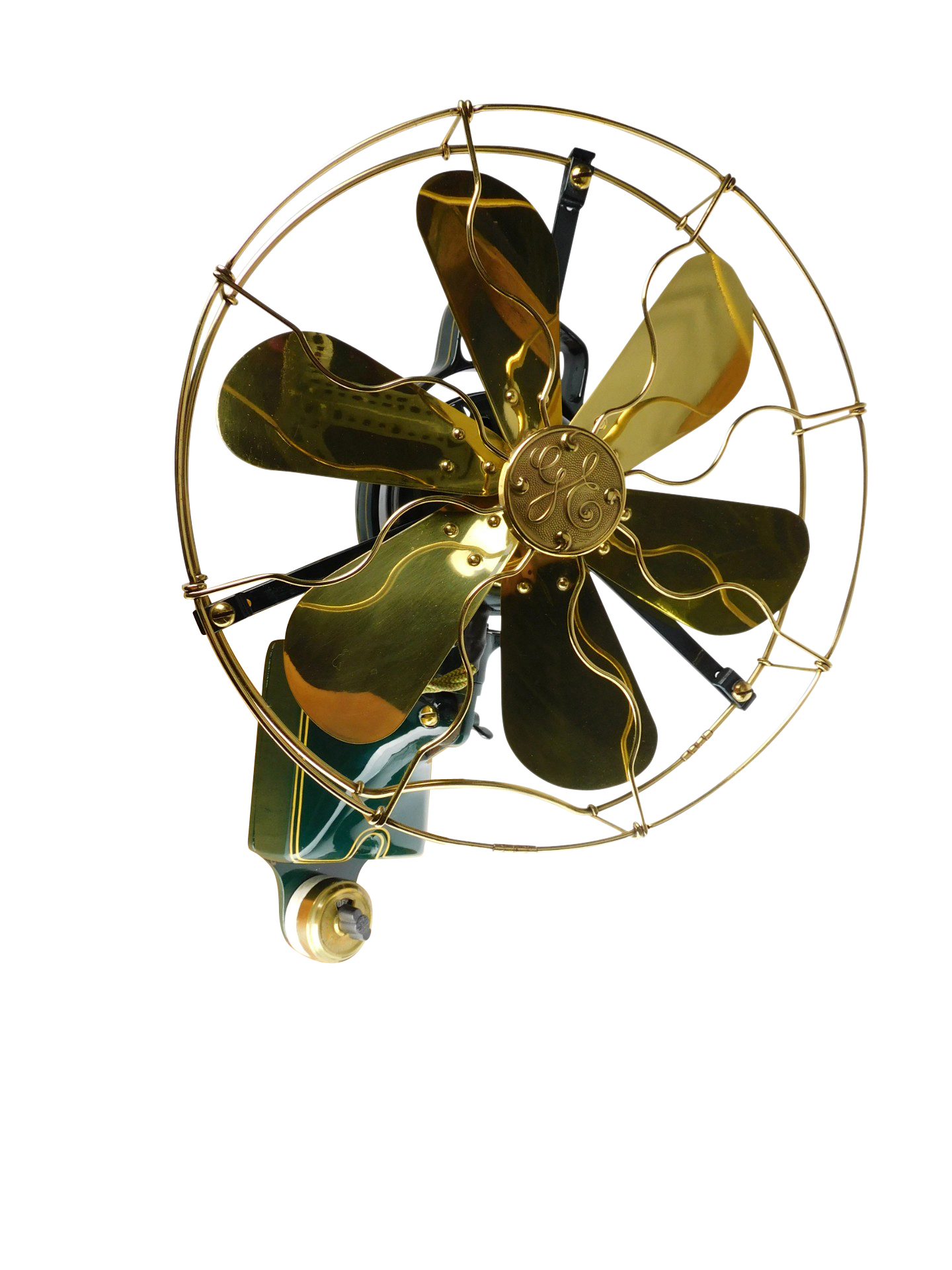 PROFESSIONALLY RESTORED VERY RARE GE WALL MOUNTED 6 BLADE TELEPHONE OPERATORS FAN.