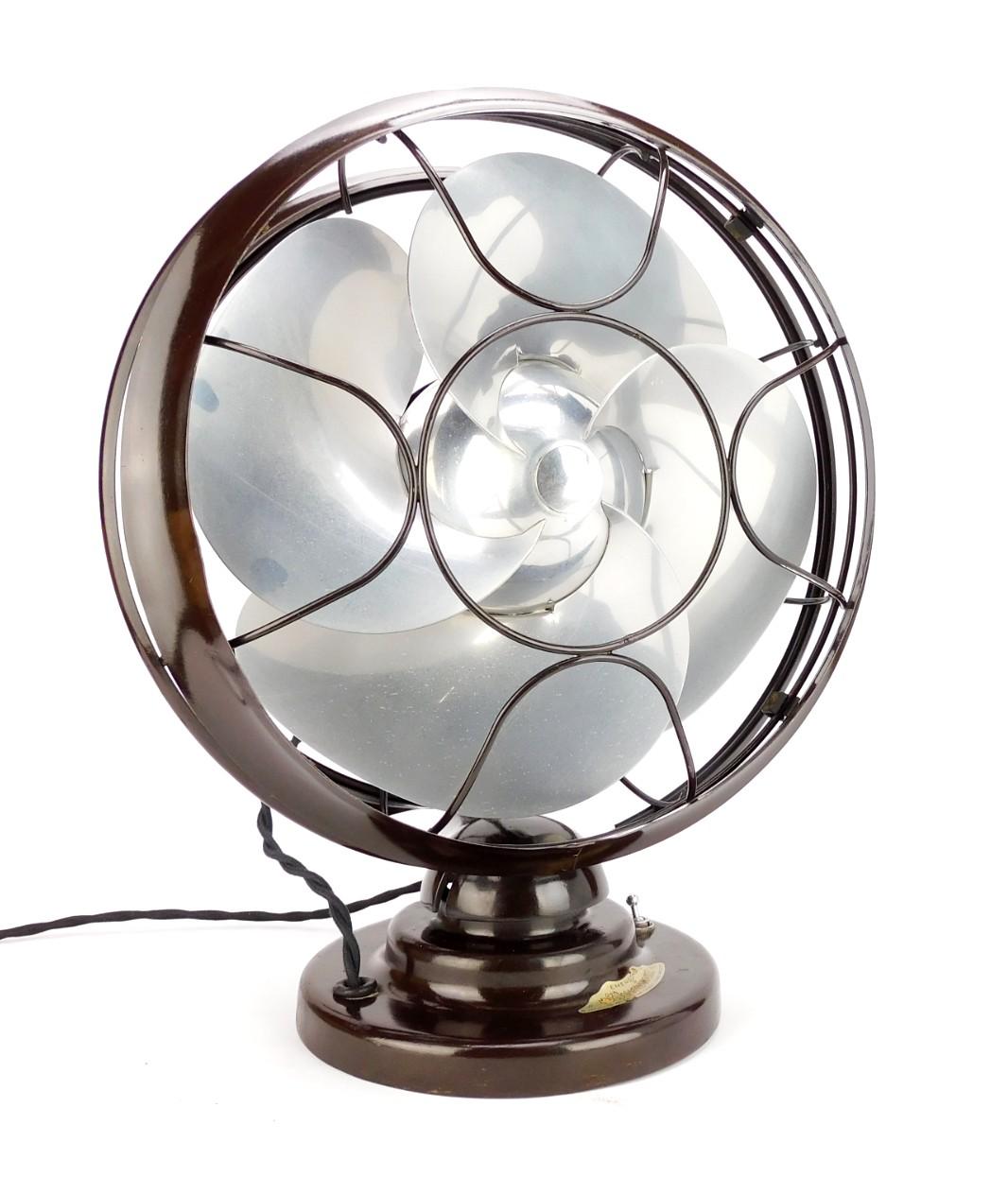 "Time Capsule 1934 10"" Emerson Silver Swan Oscillating Desk Fan"