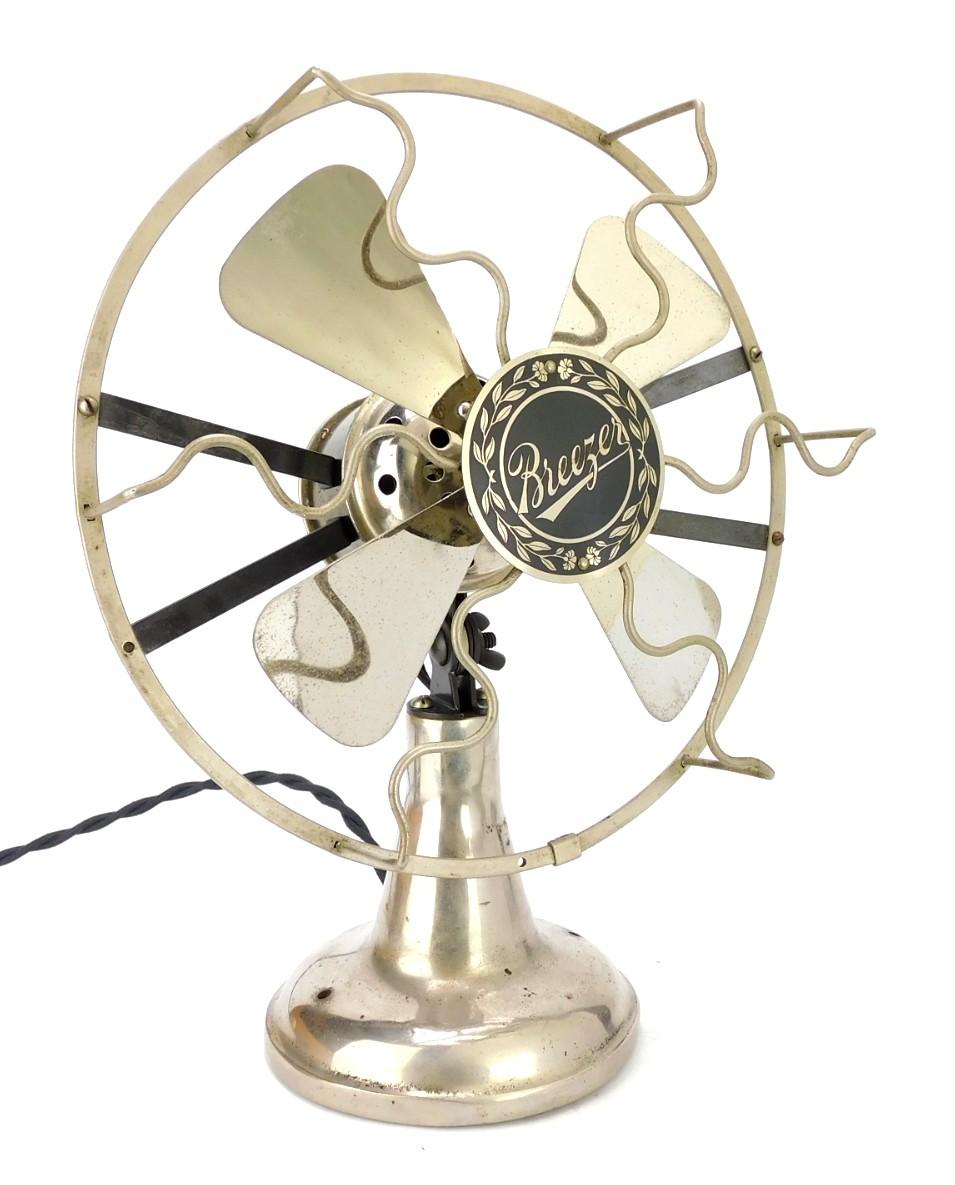 "Circa 1918 8"" Desk Fan ""Breezer"" By Lindstorm Smith Co."